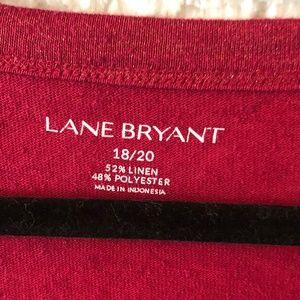 Lane Bryant Tops - Lane Bryant SS Tshirt Red Gold flake 18/20